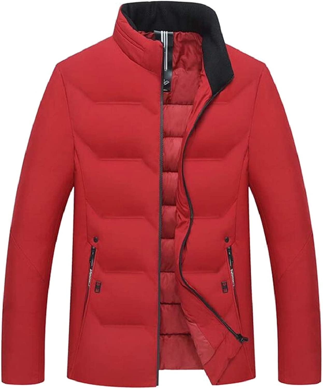f43a4a28e LEISHOP Men Winter Winter Winter Stand Collar Quilted Puffer Jacket Warm  Thick Cotton Down Coat dc53c3
