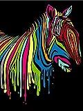 FGHJSF Pintar por numerosCaballo Arcoiris Pintura al óleo de DIY por Números con Pinceles y Pinturas para Adultos Niños Principiantes Lienzo Pintura al óleo - 40 X 50 cm (Sin Marco)