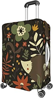 FANTAZIO Abstract Animals And Floral Suitcase Protective Cover Luggage Cover