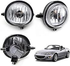 iJDMTOY One Pair Fog Lights Foglamps w/ Halogen Bulbs Compatible With Mazda 2 3 5 6 MPV MX-5 Miata CX-7 CX-9 (OEM #LE45-51-690C, LE46-51-680C)
