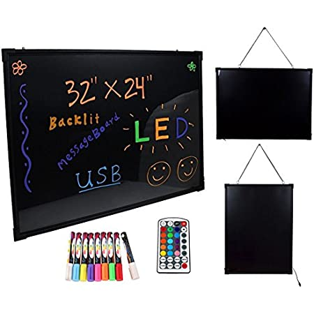 Flashing LED Writing Board Menu Sign Fluorescent Accessory Deluxe Easel