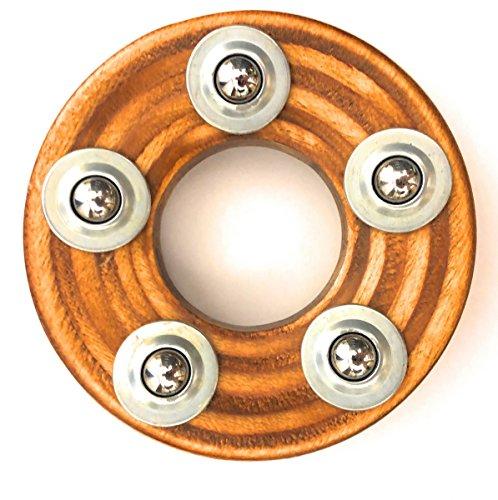 EMAX Bowling Ball Teller Ständer aus Holz hochwertig mit Kugellagern zum leichten drehen