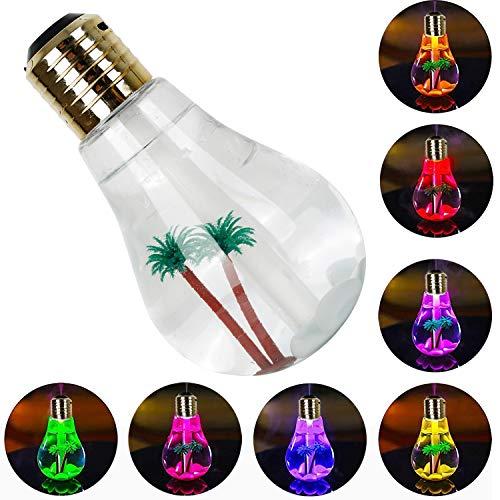 CHUNGHOP USB Air Humidifier Bulb with 7 Colors Lamp Shape Decorative...