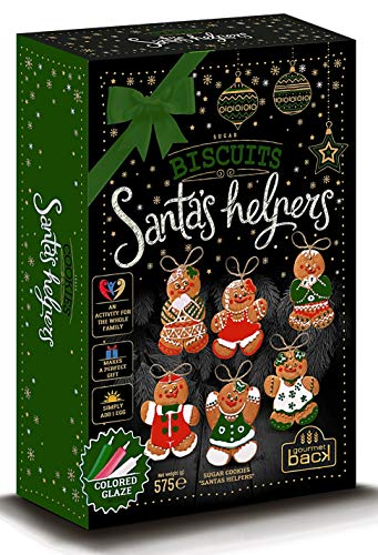 Build and Decorate Your Own Gingerbread Santa's Helpers Kit - Includes Icing Pens - 575 g