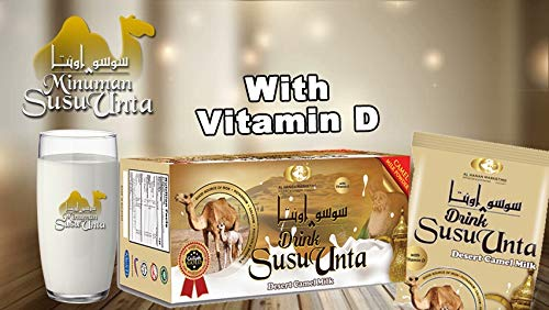 SUSU UNTA COFFEE CREAMER CAMEL MILK POWDER (VITAMIN D) (35.28oz) (40'sachets x 25g) (2000g) NATURAL FREEZE DRIED REVIVED TASTE GLUTEN FREE (NON DAIRY CREAMER)