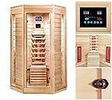 Home Deluxe – Infrarotkabine – Nova – Vollspektrumstrahler – Holz: Hemlocktanne - Maße: 100 x 100 x 200 cm – inkl. vielen Extras und komplettem Zubehör - 2