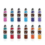 World Famous #2 Primary Color Tattoo Ink Set of 12 Vegan...