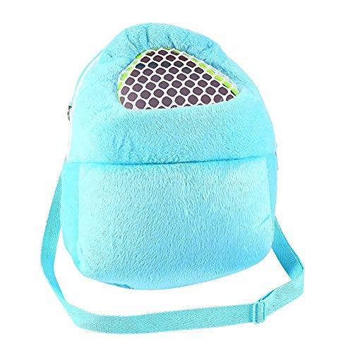 Bolsa de transporte portátil para los pequeños animales perros, gatos, hámster conejo, 21 x 25 cm, 3 colores opcionales, color azul