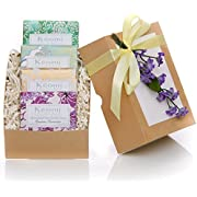 Organic Luxury Handmade 4 Bar Soap Set by KEOMI NATURALS - Gift Boxed & Ready to Give - 100% Pure Essential Oils - PAMPER THEM w/LUXURY WHILE LIFTING THEIR SPIRITS