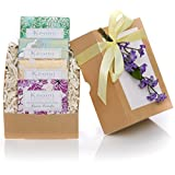 Organic Luxury Handmade Soap Gift Set - by KEOMI NATURALS - Gift Boxed & Ready to Give - THE PERFECT CHRISTMAS GIFT! -100% Pure Essential Oils - PAMPER THEM w/LUXURY WHILE LIFTING THEIR SPIRITS