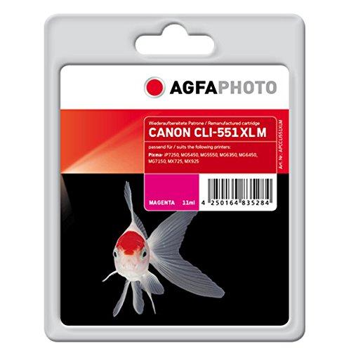 AgfaPhoto APCCLI551XLM CLI-551 XL M Druckerpatrone für Canon, magenta