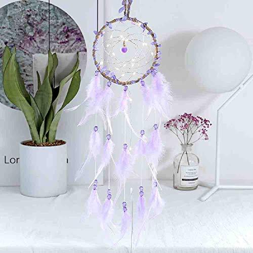 JYHW De nieuwe dromenvanger met lamp creatieve enkele ring dromenvanger weverij hangdecoratie verjaardagscadeau voor meisjes no light