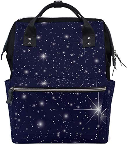 UUwant Sac à Dos à Couches pour Maman Large Capacity Diaper Backpack Travel Manager Baby Care Replacement Bag Nappy Bags Mummy Backpack Bright Stars School Bag