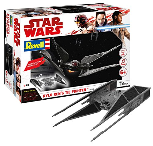 Revell Star Wars Build & Play Kylo Ren's Tie Fighter, con Luces y Sonidos, Escala 1:70 (6760)(06760)...