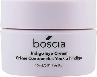 boscia Indigo Eye Cream – Natural Wild Indigo Brightening and Color-Correcting Under Eye Cream, 0.51 Fl Oz