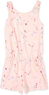 The Children's Place Girls' Ruffle Printed Romper