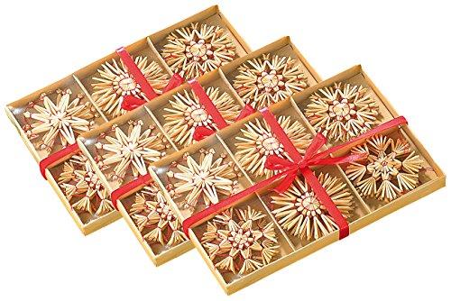 infactory Strohschmuck Christbaum: 72 Festliche Strohsterne für den Weihnachtsbaum (Christbaum Strohsterne)