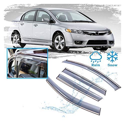 WRDD Windabweiser Für Honda Civic 8 Acura CSX 2006~2011 Autofenster Limousine Rain Guard Deflector Visor Markennamen Unterkünfte Autofenster Regenschutz