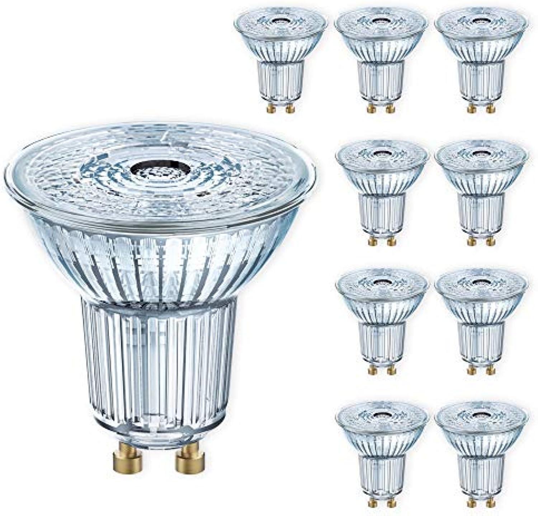 OSRAM LED SPOT GU10 PAR16 2700K warmwei Reflektor Ersatz für 35W 50W 80W Licht Auswahl 10er Set, Leistung 3,1 W   230 lm (35W) dimmbar
