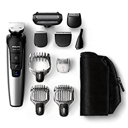 Philips QG3398 / 15 Multigroom set for face, hair and body, 10 attachments, black / metal
