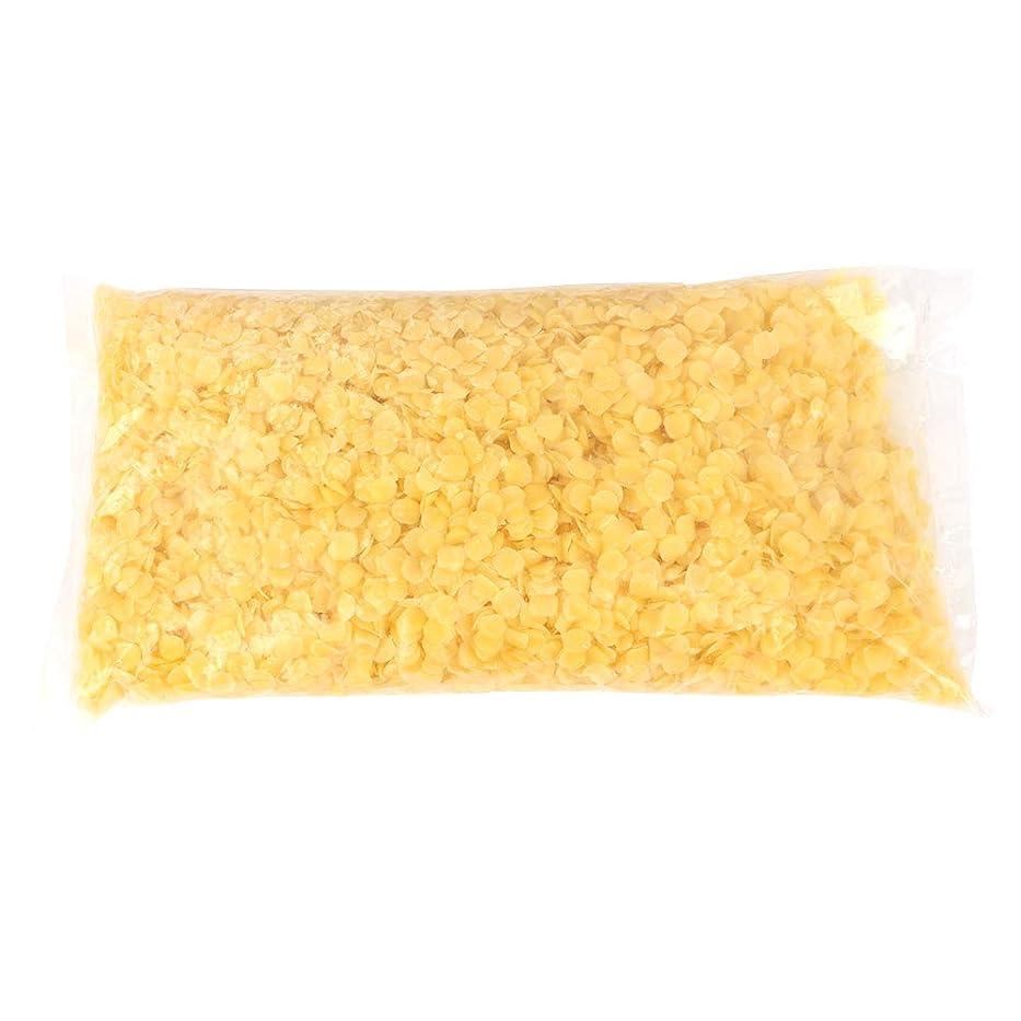 通知するつまずく階層天然ミツロウ、500g黄白食品グレードミツロウペレット純粋な天然ミツロウ化粧品手仕事用石鹸/口紅/キャンドル/バームス/ポリッシュ/クリーム、刺激なし(黄)