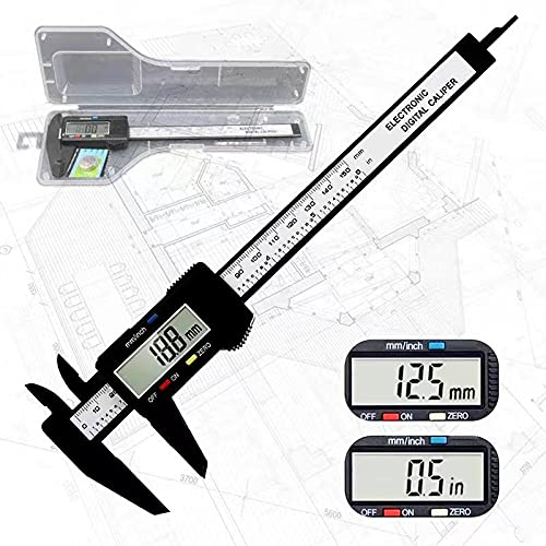 """Electronic digital calipers, LCD screen displays 0-6""""caliper measuring tool, automatic shutdown, inch and millimeter conversion, suitable for jewelry measurement and 3D printing"""