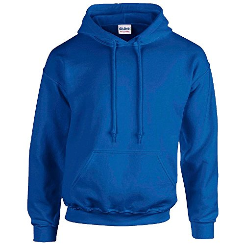 Gildan Heavy Blend Erwachsenen Kapuzen-Sweatshirt 18500 blue royal, M