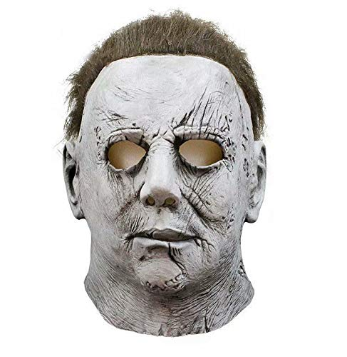 Godmoy Disfraz de Halloween de la película de Terror 2018 Disfraz de Michael Myers con máscara para Adulto, Mono Azul para Hombre