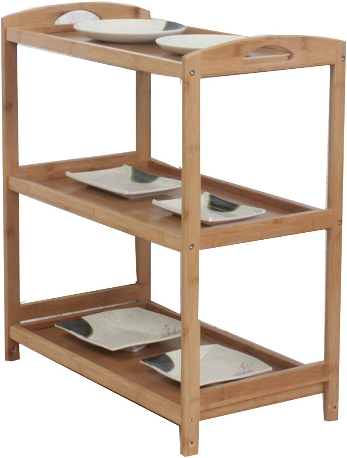 Kitchen Storage Shelf, 3-Layer Rack Restaurant Living Room Bedroom Office -A
