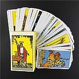 LIZHIQQ 78 Cartas De Tarot, Adivinación Knight Cartas De Tarot, Diseño Clásico Versión Inglés Adivinación Cartas Del Tarot