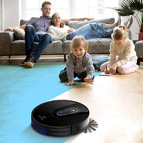 Amarey A900 Robotic Vacuum Cleaner- Smart Navigating Robot Vacuum, 1400Pa Suction, Wi-Fi Connectivity, APP Controls, Works with Alexa, Quiet, Self-Charging, Ideal for Pet Hair, Hard Floors to Carpet