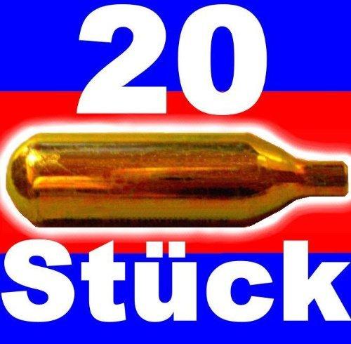 isi - 20 ricariche di CO2 per spillatore di birra professionale BierMaxx, da 16 g
