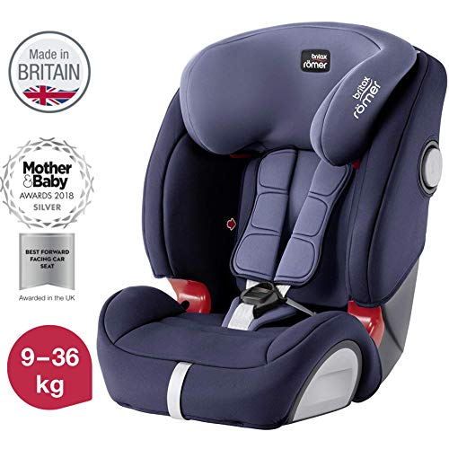 Britax Römer Evolva 1-2-3 SL SICT - Silla de coche, grupo 1/2/3 (9-36 kg), color Moonlight Blue
