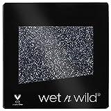 Wet n Wild - Color Icon Glitter Eyeshadow Single - Sombra de Ojos Brillante con una Fórmula Hidratante y Textura Sedosa, Sedosa, Glitter Maquillaje Profesional - Vegan - Color Karma Gris Oscuro