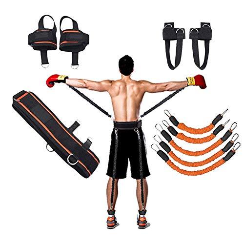 YNXing Cuerda de Entrenamiento de Fuerza para Boxeo, Baloncesto, Valla Entrenamiento Resistencia Cuerda elástica Azul Cuerda de tensión Equipo de Fitness (Naranja)