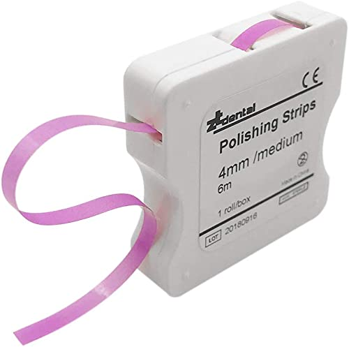 Anself 1 Rollo/Caja Blanqueadores de dientes Tira de Pulido Dental 4mm Blanqueamiento Dental Superficie y Diente Inte...