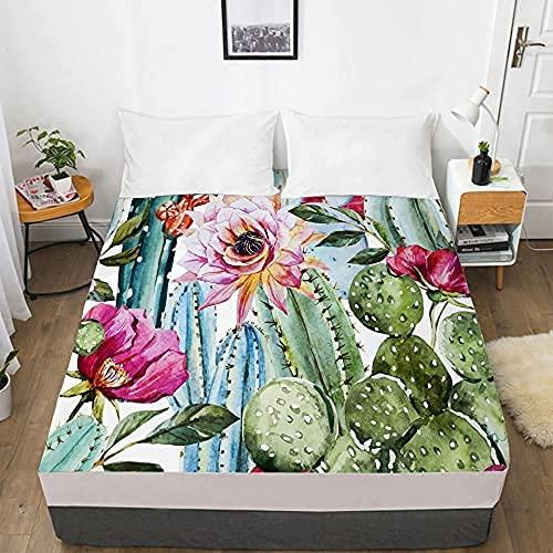 LLKK Home 1 sábana de cama 3D con funda elástica ajustable para colchón 135/150/180/200/160x200 Country Toucan Ropa de cama doble Queen King Hotel calidad (color: 13, tamaño: 200x200 profundo 30cm)