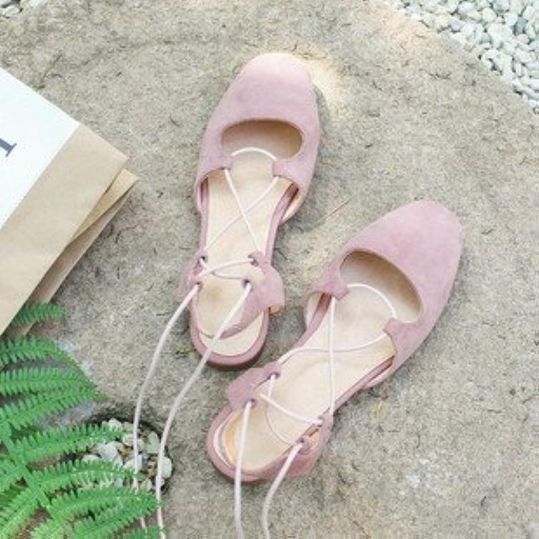 Xue Qiqi Court Schuhe Einzelne Schuhe Weiblichen Flachbild Strap Low Header mit der Eleganten Rmischen Sandalen Weiblich