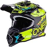 O'NEAL | Casco de Motocross | MX Enduro | ABS Shell, Estándar de Seguridad ECE 2205, Óptima ventilación y refrigeración | Casco 2SRS Villian Youth | Niños | Amarillo Neón | Talla S