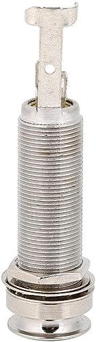 Prise de Jack de sortie de broche, 1/4 pouce cylindre fileté long pour la basse électrique la guitare électrique