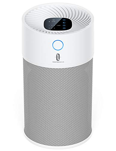Air Purifier for Home, TaoTronics Large Room Air Cleaner with H13 True HEPA Filter CADR 300m³/h 4 Speeds Low Working Noise as 33dB Sleep Mode Air Quality Indicator filter Smoke Pollen Pets Dander