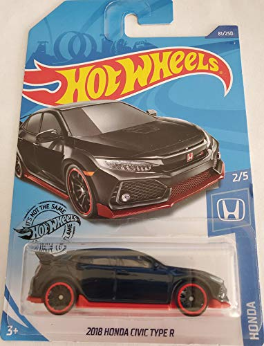 Hot Wheels 2020 Honda 2/5 - 2018 Honda Civic Type R, Black 81/250