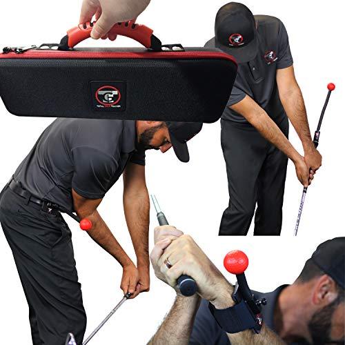 TOTAL GOLF TRAINER 3.0 Set – Golf-Trainingshilfen – Lehrt und korrigiert Golfschwung, Haltung und Hüftdrehung, Handgelenk-, Ellenbogen- und Armposition