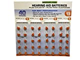 America Hears Size 13 Hearing Aid/Amplifier Batteries 40 Pack (Zinc Air Activated and Mercury Free)