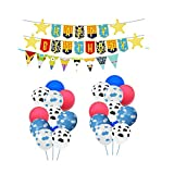 Metixoze Toy Story Party Supplies Toy Story Balloons Happy Birthday Banners Garland Flags Party Decorations
