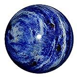 Reviheal ™ Esfera de piedra Sodalita Balancing Art Reiki Healing Stone Decoración de mesa for Harmonize