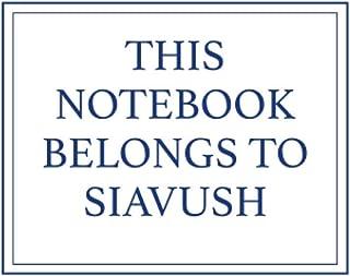 This Notebook Belongs to Siavush