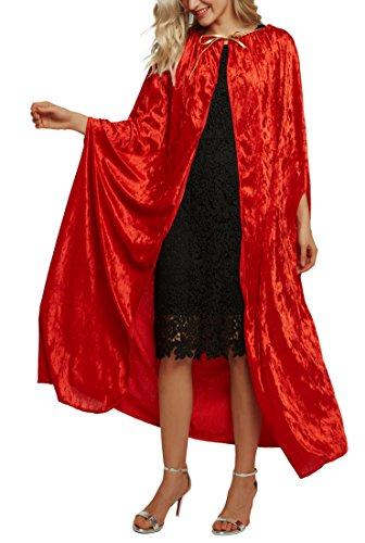 Urban Coco disfraz de longitud completa con capucha de terciopelo Cabo