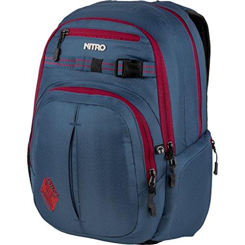 Nitro Chase Rucksack, Schulrucksack mit Organizer, Schoolbag, Daypack mit 17 Zoll Laptopfach, Blue Steel, 35L