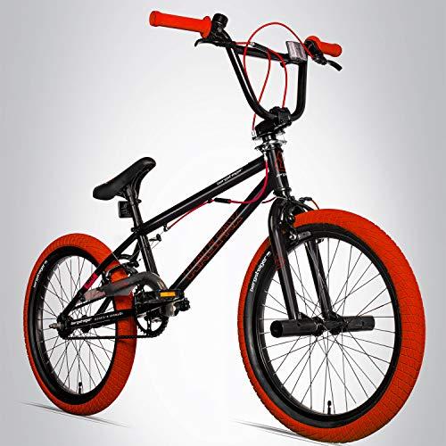 Bergsteiger Halifax 20 Zoll BMX, Fatbike, 360° Rotor-System, Freestyle, 2 Stahl Pegs, Kettenschutz, Freilauf